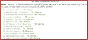 таблица расчета рейтинга на seo-fast.ru