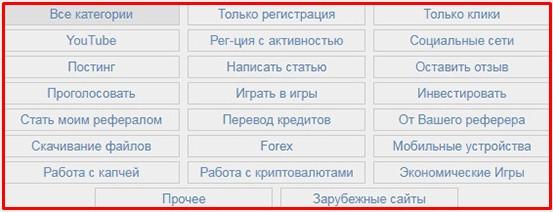 категории заданий на aviso.bz