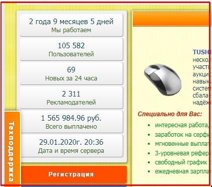 кнопка регистрации на tushins.com