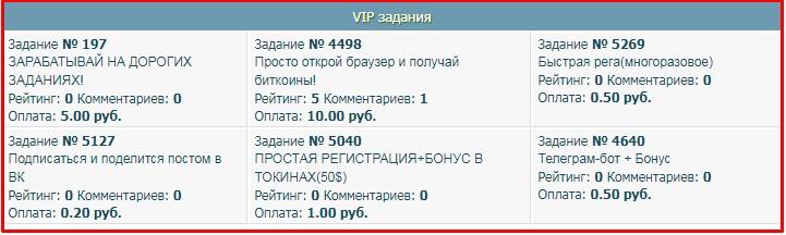 примеры заданий на seo-rublik.ru